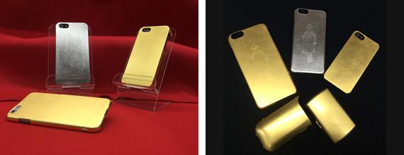 携帯電話ゴールドカバー